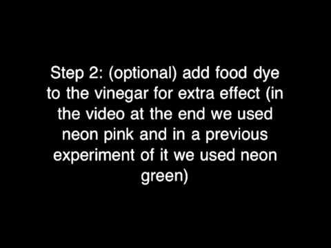 Science Experiment-DIY baking soda volcano effect explosion