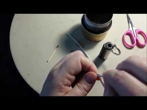 Replacing a metal match wick.
