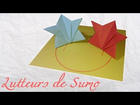 Origami : Jeu de lutteurs de Sumo !