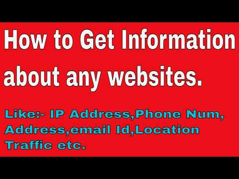 How to find more info about any web sites ?