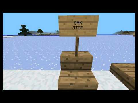 How to make a picnic table on minecraft pe.