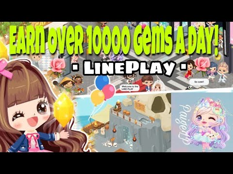 HOW TO EARN OVER 10000 GEMS DAY//🌹▪LINEPLAY▪🌹