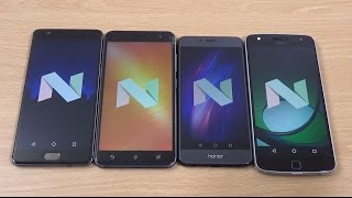 OnePlus 3T vs Honor 8 vs Zenfone 3 vs Moto Z Play Official Android 7.0 Comparison!