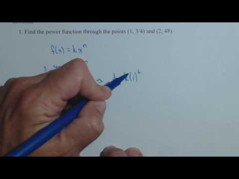 Find a Power Function through 2 Points QR5 1