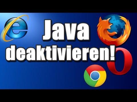 Java deaktivieren bei Firefox, Chrome, Opera und IE!