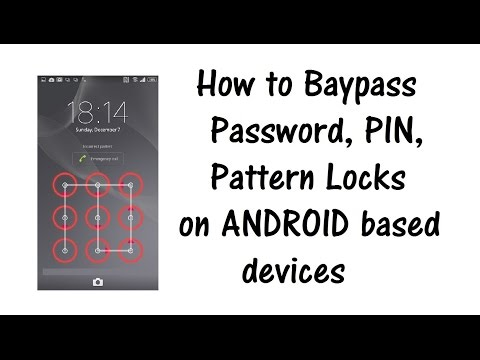 Bypass Password, PIN, Screen Lock on Samsung Galaxy, Sony Xperia, HTC and any Android based device