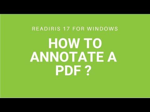 Readiris 17: Annotate a PDF (highlighting, underlining, strikethrough)