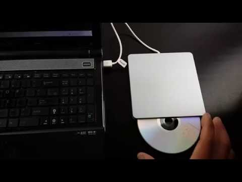 Review and How to of VersionTech USB External Slot DVD VCD CD RW Drive Burner Superdrive