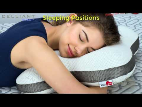 Celliant Sleep Butterfly Orthopedic and Ergonomic Neck Support Memory Foam Pillow