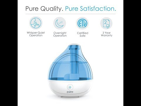 MistAire Ultrasonic Cool Mist Humidifier   Premium Humidifying Unit with Whisper Quiet Ope
