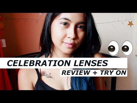Celebration Lenses Review and Try On // MailMyLens.Com