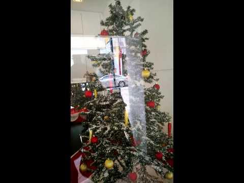 Christmas tree with fake snow!