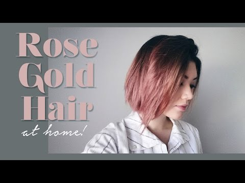 ROSE GOLD HAIR // how-to & demo