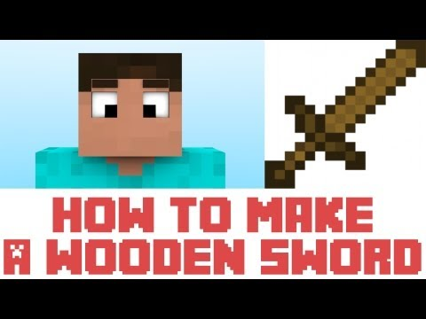 Minecraft Tutorial - How To Make A Wooden Sword In Minecraft