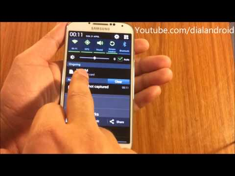 Samsung Galaxy S4 Screen capture/Screenshot Trick