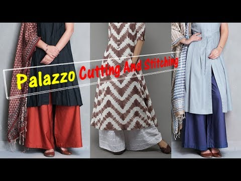 Palazzo Pant Cutting And Stitching (simple Method) Pn'z World