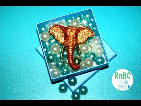 Polymer Clay : Gold Elephant Head Tutorial