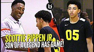 Scottie Pippen Jr vs Top D1 Talent at Nike Elite 100 Camp! Son of NBA Legend Has Game!