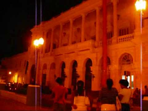 Cuba Travel - Santiago de Cuba: Parque Cespedes (Main Square) at Night