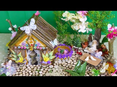Beautiful Magical Fairy House and Garden .. Easy to make ..
