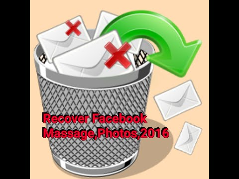 How to Recover Deleted Messages,Picture,In Facebook
