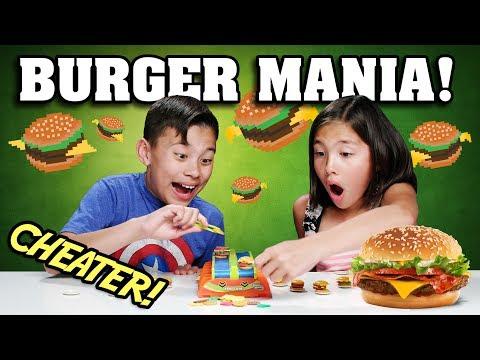 BURGER MANIA!!! The Hamburger Challenge Cheaters!