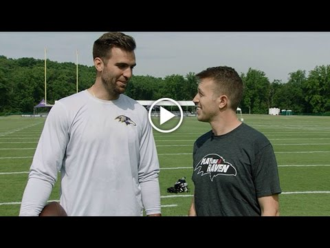 What It's Like Catching Bullets From Joe Flacco | Baltimore Ravens