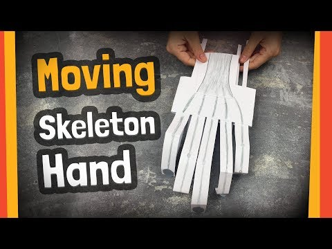 Moving skeleton hand craft | Great for halloween party or any DIY activities with kids.