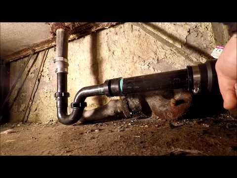Using fernco connecters to connect lead and cast iron pipe