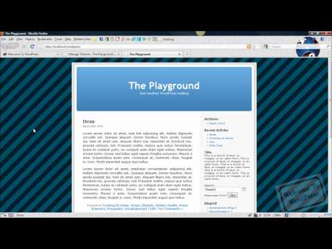 WordPress Tutorial: How To Change A WordPress Theme's Background Image