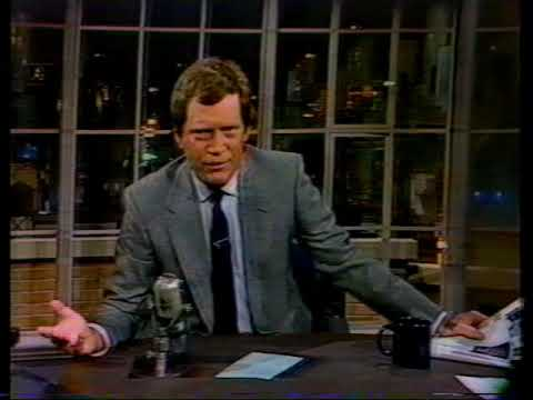 David Letterman talks about getting Adidas Shoes.