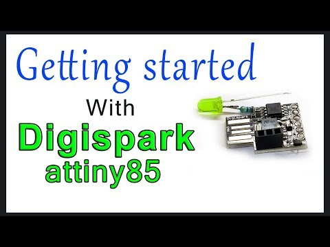 Getting started with Digispark attiny85 | Driver installation | code uploading