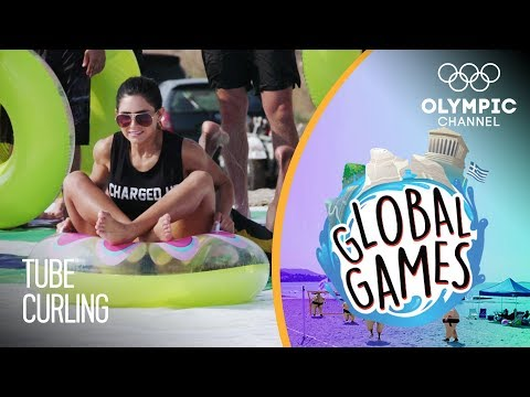 Tube Curling - Olympians vs Influencers | The Global Games