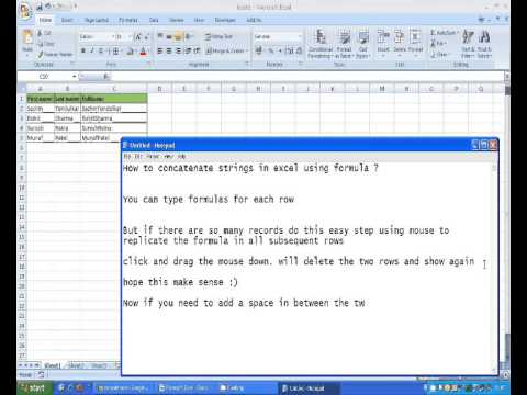how to concatenate string in excel