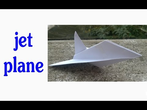 How to make a paper  jet plane - easyBT