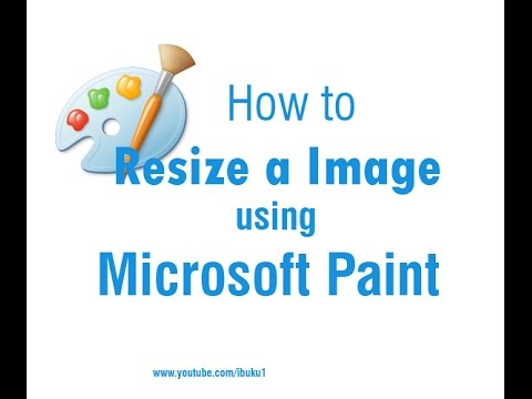 How to Resize a Image using Microsoft Paint