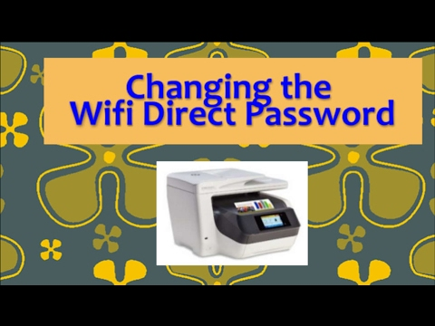 How to change  the Wifi Direct Password