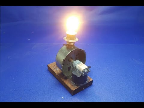 Experiment electricity generator using dc motor - free energy mini at home
