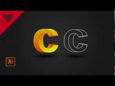 How to make 3D Logo Letter C use Adobe Illustrator