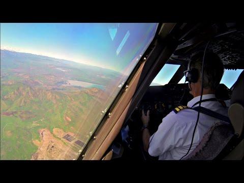 Santiago Landing Timelapse - Boeing 747 Cockpit + Overflying the Andes