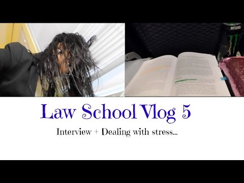 Law School Vlog 5| Interview + Dealing with stress...