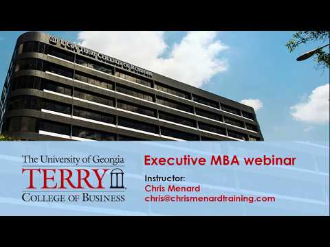 UGA - Webinar 1 for EMBA - Terry College of Business with Chris Menard