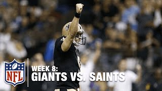 Drew Brees Ties an NFL Record with 7 Touchdown Passes! | Giants vs. Saints | NFL