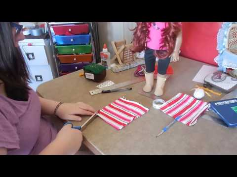 how to make a american girl doll skirts