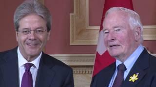 Il Presidente Gentiloni incontra ad Ottawa il Governatore Generale del Canada, David Johnston