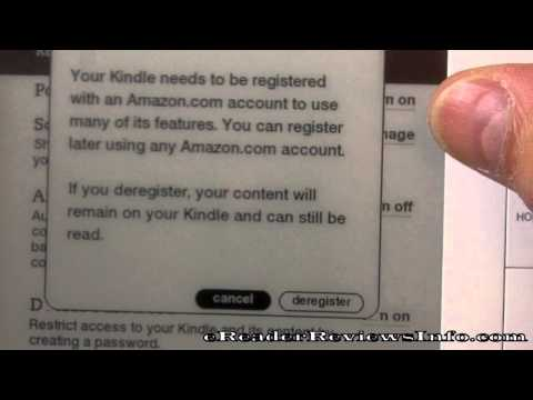How To De-Register a Kindle