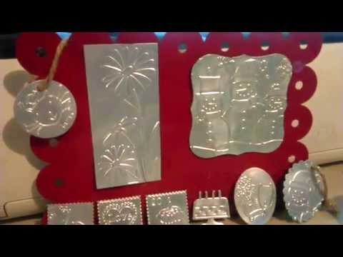 Cuttlebug Embossing pop can scrapbooking embellishments Tutorial