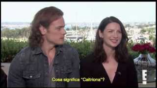 """[SUB ITA] """"Is Sam Heughan Single. Does Caitriona Balfe have a sister?"""""""