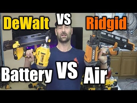 Battery Nailer VS Air Nailer | THE HANDYMAN |