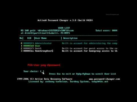 Cara Membobol Password User Windows (Bypass Windows User Password)  Dengan Hiren BootCD